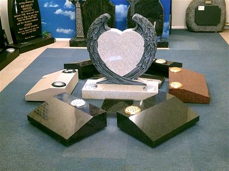 Angel Wings Headstone